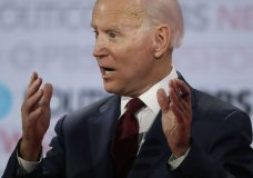 Democratic presidential candidate former Vice President Joe Biden speaks during a Democratic presidential primary debate Thursday, Dec. 19, 2019, in Los Angeles. (AP Photo/Chris Carlson)