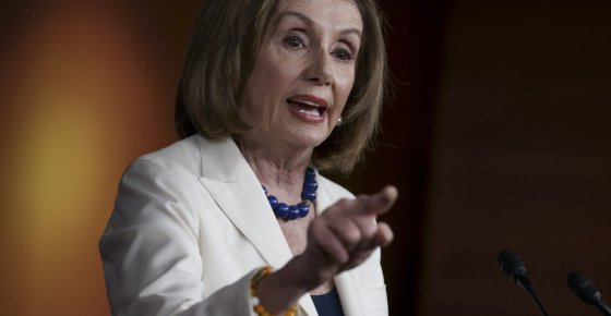 Speaker of the House Nancy Pelosi, D-Calif., responds forcefully to a question from a reporter who asked if she hated President Trump, after announcing earlier that the House is moving forward to draft articles of impeachment against Trump, at the Capitol in Washington, Thursday, Dec. 5, 2019. (AP Photo/J. Scott Applewhite)