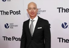 """FILE - In this Dec. 14, 2017, file photo, Jeff Bezos attends the premiere of """"The Post"""" at The Newseum in Washington. United Nations experts on Wednesday, Jan. 22, 2020 have called for """"immediate investigation"""" by the United States into information they received that suggests that Jeff Bezos' phone was hacked after receiving a file sent from Saudi Crown Prince Mohammed bin Salman's WhatsApp account. (Photo by Brent N. Clarke/Invision/AP, File)"""