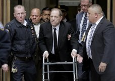 Harvey Weinstein leaves State Supreme Court in New York, Monday, Jan. 6, 2020. The disgraced movie mogul faces allegations of rape and sexual assault. (AP Photo/Seth Wenig)