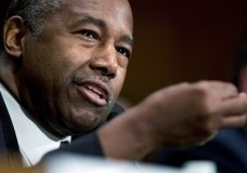 "FILE - In this Sept. 10, 2019 file photo, Housing and Urban Development Secretary Ben Carson speaks at a Senate Banking Committee hearing on ""Housing Finance Reform: Next Steps"" on Capitol Hill in Washington. The Trump administration took steps Tuesday to roll back an Obama-era rule intended to ensure that communities confront and address racial segregation in housing, saying local governments have been overburdened by the requirements. (AP Photo/Andrew Harnik)"