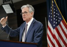 FILE - In this March 3, 2020 file photo, Federal Reserve Chair Jerome Powell speaks during a news conference to discuss an announcement from the Federal Open Market Committee, in Washington. On Thursday, Aug. 26, Powell will address the Fed's annual gathering of global central bankers, normally held in Jackson Hole, Wyo., but this time being conducted virtually. (AP Photo/Jacquelyn Martin, File)