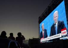 Participants in a CNN panel of undecided North Carolina voters said that Trump's strength in the debate was his focus on the economy, while Biden's strength was his emphasis on 'unifying' Americans. Photograph: Jeff Chiu/AP