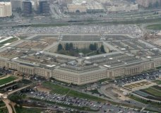 ILE - This March 27, 2008, file photo shows the Pentagon in Washington. The specter of election chaos in the United States is raising questions about whether voting, vote-counting or the post-vote reaction could become so chaotic that the military would intervene. (AP Photo/Charles Dharapak, File)