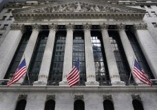 The New York Stock Exchange is seen in New York, Monday, Nov. 23, 2020. U.S. stocks are hovering close to their record levels Thursday, Dec. 3, as Wall Street takes a pause following its rocket ride higher on optimism about a coming COVID-19 vaccine. (AP Photo/Seth Wenig)
