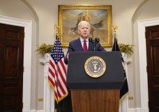 President Joe Biden speaks in the Roosevelt Room of the White House, Saturday, Feb. 27, 2021, in Washington. (AP Photo/Pablo Martinez Monsivais)