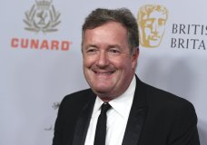 "FILE - In this Friday, Oct. 25, 2019 file photo, Piers Morgan arrives at the BAFTA Los Angeles Britannia Awards at the Beverly Hilton Hotel in Beverly Hills, Calif. British talk show host Piers Morgan has quit the show ""Good Morning Britain"" after making controversial comments about the Duchess of Sussex. The U.K.'s media watchdog said earlier Tuesday, March 9, 2021 that it was launching an investigation into the show under its harm and offense rules after receiving more than 41,000 complaints about Morgan's comments on Meghan. (Photo by Jordan Strauss/Invision/AP, file)"
