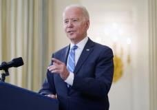President Joe Biden speaks about the economy and his infrastructure agenda in the State Dining Room of the White House, in Washington, Monday, July 19th, 2021. (AP Photo/Andrew Harnik)