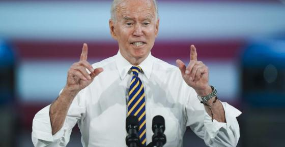 President Joe Biden speaks during a visit to the Lehigh Valley operations facility for Mack Trucks in Macungie, Pa., Wednesday, July 28, 2021. (AP Photo/Matt Rourke)