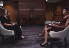 This image provided by CBS This Morning/Times Union shows Brittany Commisso, left, answering questions during an interview with CBS correspondent Jericka Duncan on CBS This Morning, Sunday, Aug. 8, 2021, in New York. (CBS This Morning and Times Union via AP)