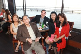 Evelyn Centeno, Edcelyn Pujol, Chello Palas and friends at Lloyd Lacuesta's Retirement Party | FroomzBlog