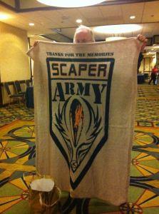 Ricky's Scaper Army blankie