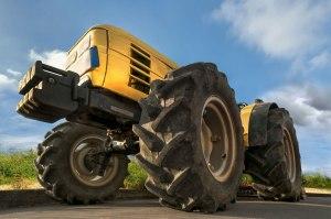 Diesel fuel tractor