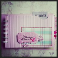 Version Fille mini album scrapbooking tuto2