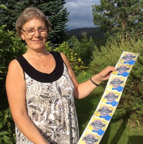 Eva Juberg - vinner av 1 meter Flax!