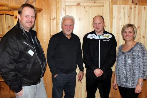 Deler av arrangementstaben for Frostadan 2016, f.v: Kjell Arne Aatlo, Jonas Viken, Roar Vold og Britt-Ranveig Nielsen Hernes