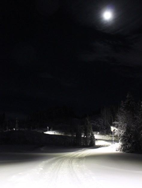Skitur i måneskinn