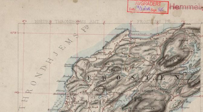 Hemmelig kart over Frosta fra 1868 avgradert