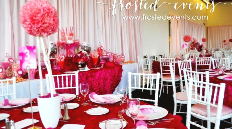 La Vie En Rose Breast Cancer Charity Event at the French Embassy |Sponsored by Kitchen Aid| Styling by Frosted Events -frostedevents.com Pink Dessert Table + Candy Bar inspiration