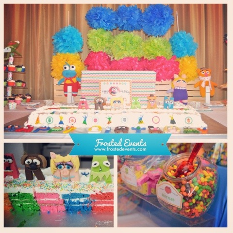 Muppet Theme Birthday Party Ideas and Inspiration www.frostedevents.com 1st First Birthday Party