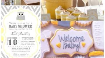 Adorable Yellow and Gray Baby Shower Ideas and Inspiration