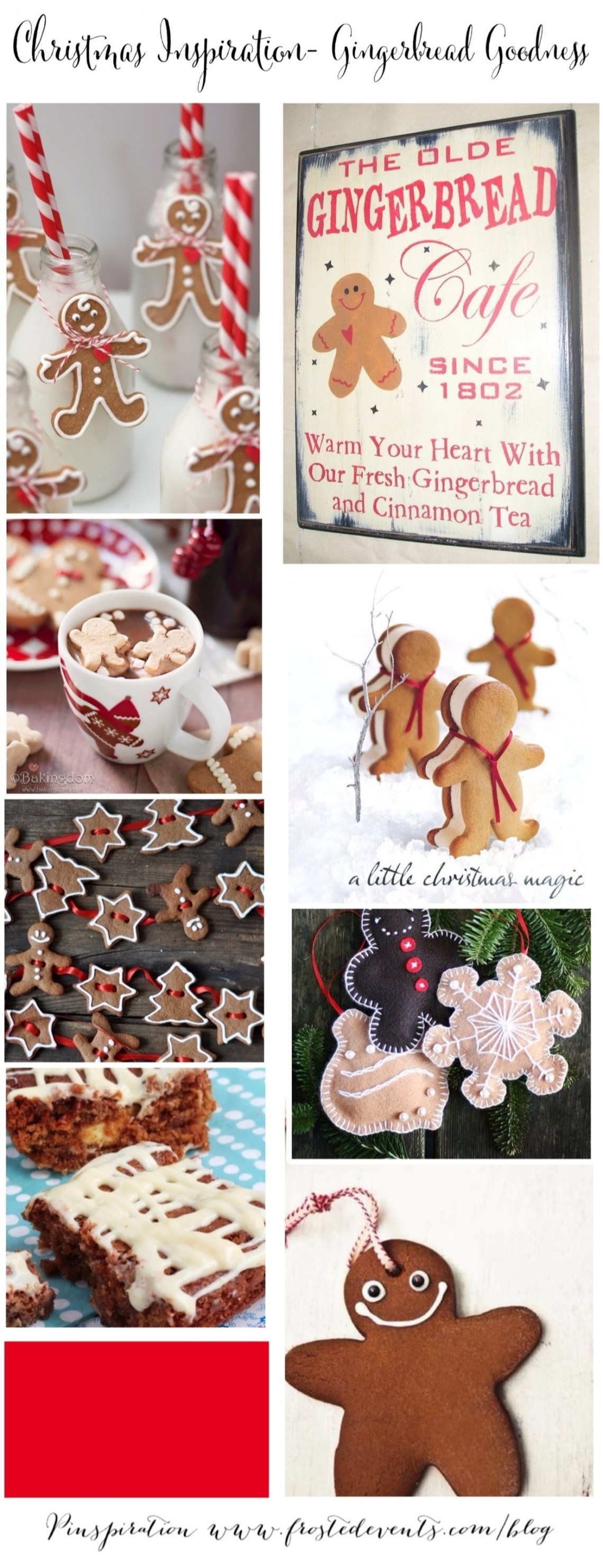 Christmas Inspiration- Gingerbread Goodness www.frostedevents.com