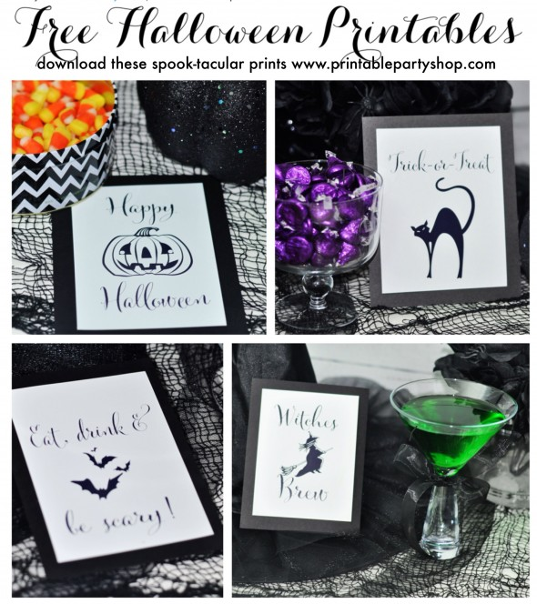 Free Halloween Printables www.frostedevents.com