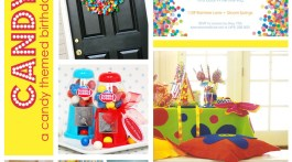 Candy Theme Birthday Party www.frostedevents.com KIds Party Ideas
