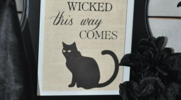 Vintage Halloween Print- Something Wicked- www.frostedevents.com Free Printables