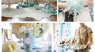 Christmas Inspiration- Tiffany Blue www.frostedevents.com Aqua Christmas Tree & Decor