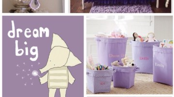 Lovely Lavender Nursery Design www.frostedevents.com Nursery Ideas & Inspiration- Purple