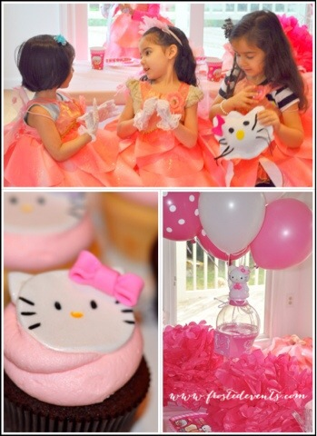 Hello Kitty Party by Frosted Events with FREE Printable Party Set wwwfrostedeventscom Birthday Party Ideas and Inspiration