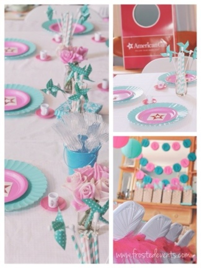 American Girl Party Ideas - American Girl Birthday Party Cupcakes, Games, Crafts