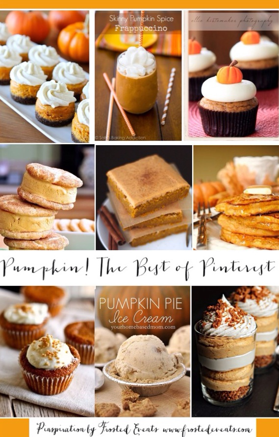 Pumpkin Bars, Pumpkin Cookies, Pumpkin Cakes and Pumpkin Recipes Galore! Pinterest Everything Pumpkin, fall recipes and favorite desserts you can't miss! via Misty Nelson frostedblog  @frostedevents