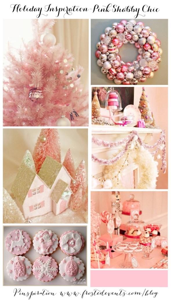 Holiday Inspiration Pink Shabby Chic Christmas