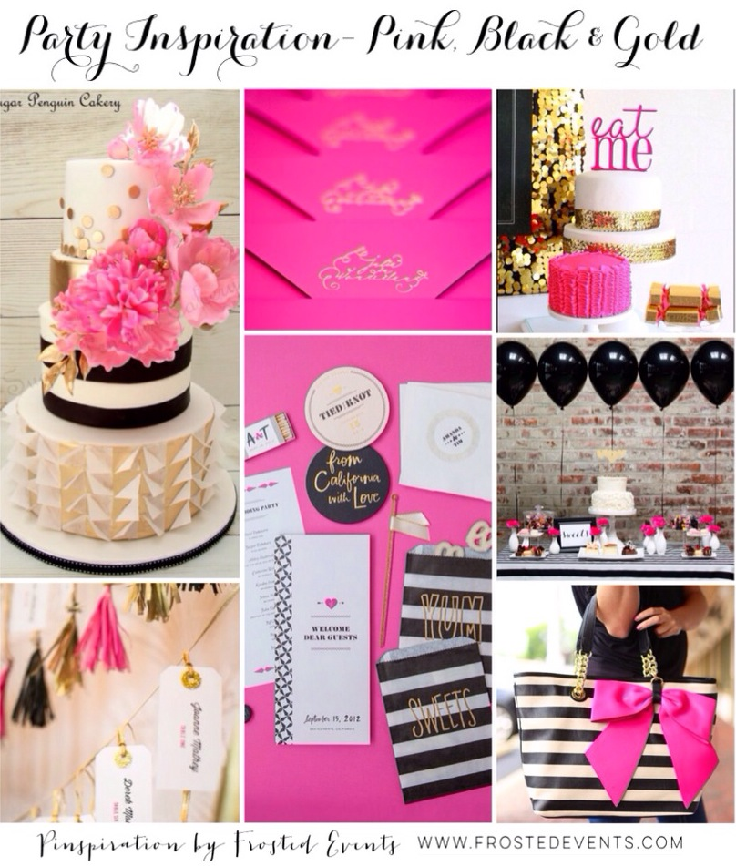 Party Inspiration Pink Black And Gold