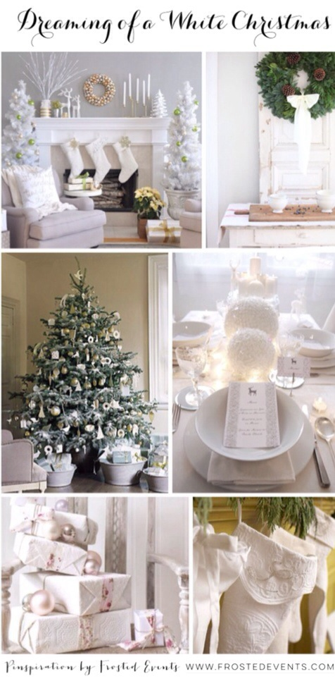 Dreaming of a White Christmas www.frostedevents.com