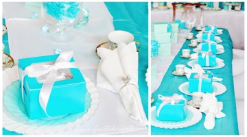 Fancy Tiffany Theme Tea Party wwwfrostedeventscom