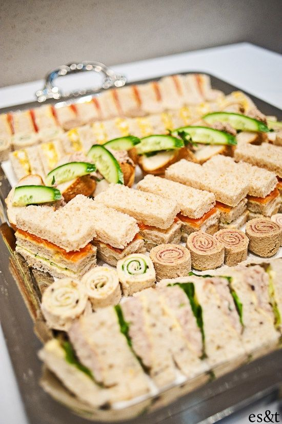 mini tea sandwiches