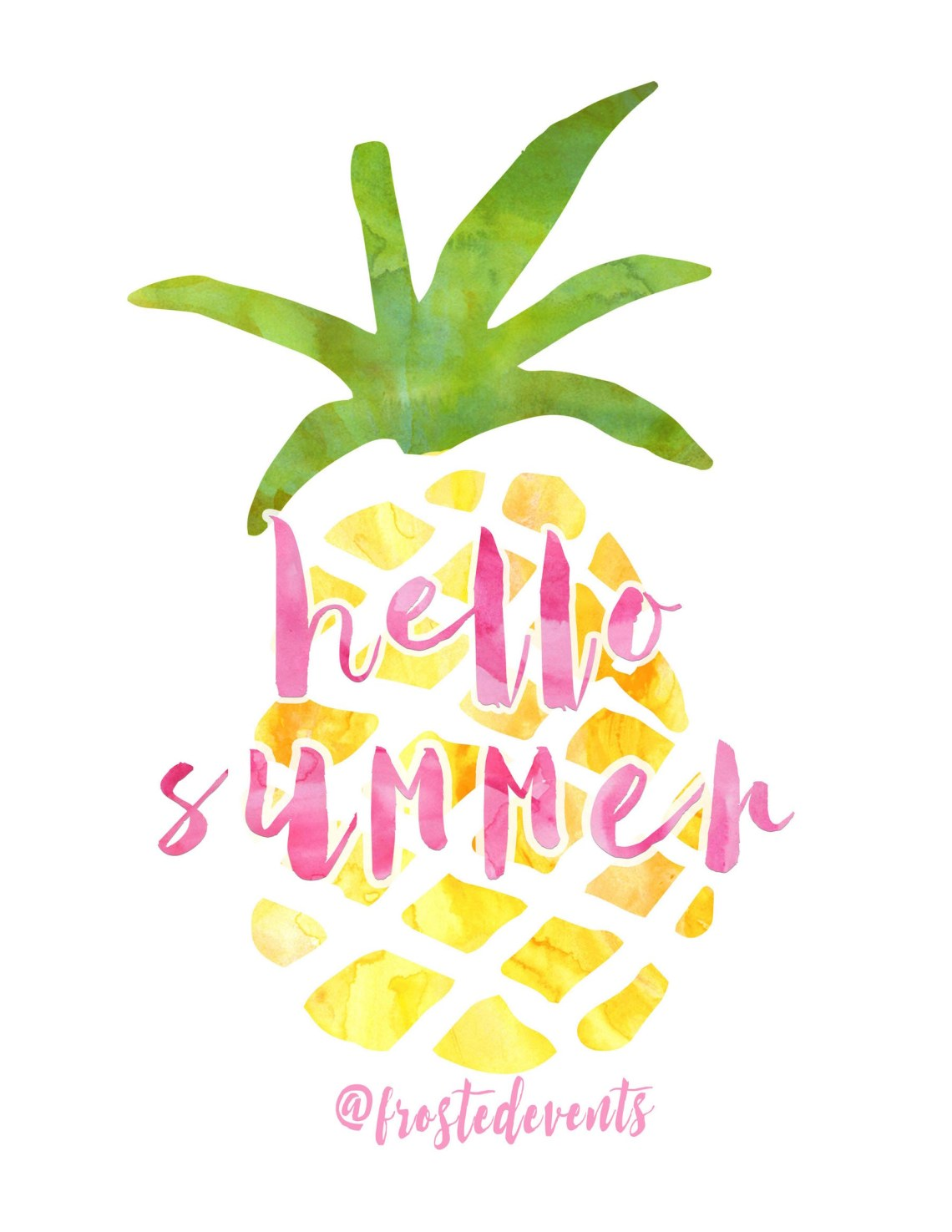 Free Pineapple Print Cute Printable