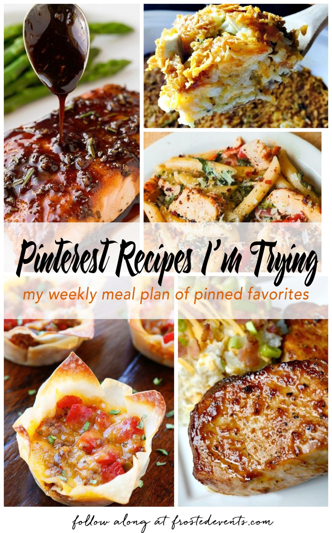 Pinterest Recipes- My Weekly Meal Plan of Pinterest Favorite Recipes  frostedeventscom