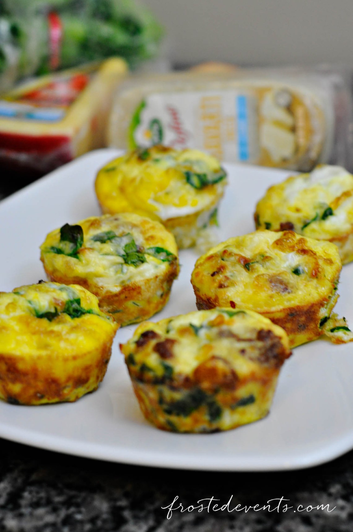 Quick and Easy Snacks + Lunch Ideas Recipe for Sausage Spinach and Cheese Egg Bites