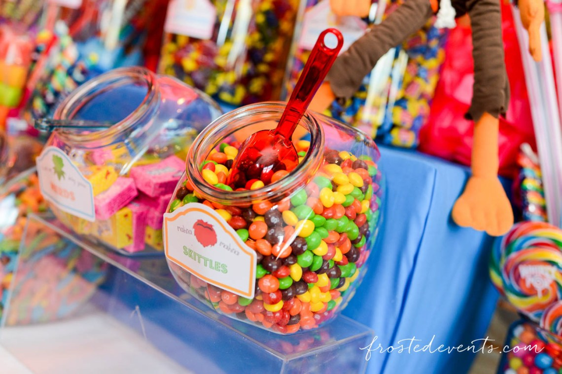 Muppets Theme Party- Muppet TV Show - Muppets birthday -#muppets candy table, dessert table, candy buffet