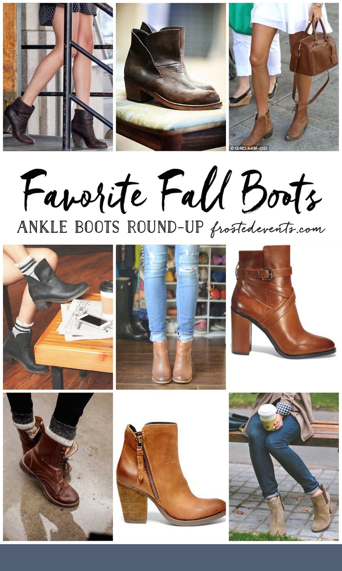 Outfits with Boots- Ankle Boots Outfit Ideas Favorite Fall Boots Round-up Cute Ankle Boots Fall Style frostedevents.com