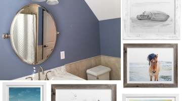 Minted Wall Art - From Drab to Fab, Dressing up our Bathroom Wall Minted Artwork Prints
