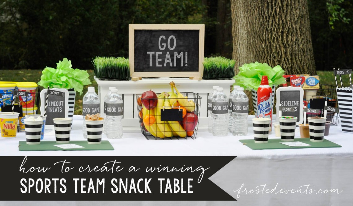 Easy Party Food Ideas- Sports Team Snack Table