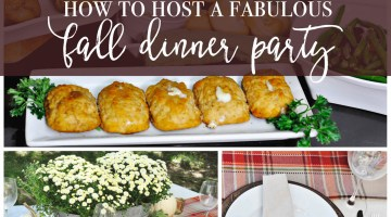 Dinner Party Menu with Barber Stuffed Chicken Breasts and Frosted Events @frostedevents #dinnerparty
