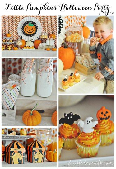Halloween Party for Kids - Pumpkin Party ideas, halloween party treats, halloween desserts and more fun Halloween ideas via mom blogger Misty Nelson @frostedevents Halloween popcorn candy corn Halloween drinks