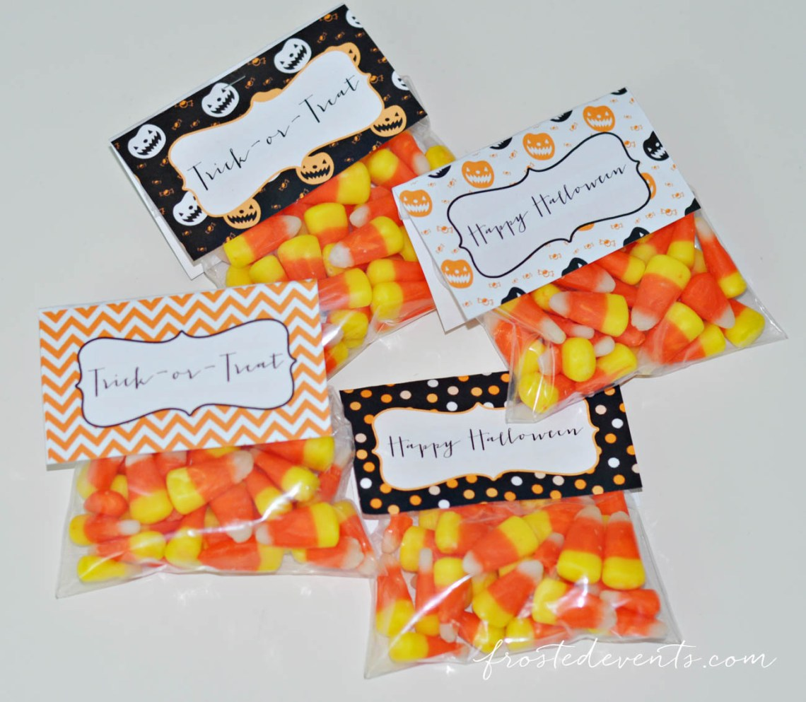 Halloween Treats for Kids Free Printable Treat Bag Toppers