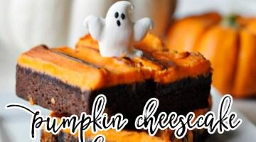 Pumpkin Cheesecake Brownies Recipe via frostedevents.com Pumpkin recipes Pinterest Top Pinned Recipes
